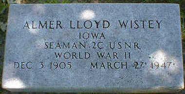 WISTEY, ALMER LLOYD - Cerro Gordo County, Iowa | ALMER LLOYD WISTEY