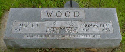 WOOD, THOMAS DUFF - Cerro Gordo County, Iowa | THOMAS DUFF WOOD
