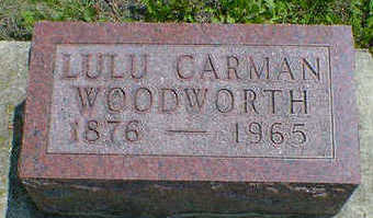 WOODWORTH, LULU (CARMAN) - Cerro Gordo County, Iowa | LULU (CARMAN) WOODWORTH