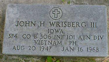 WRISBERG, JOHN H. III - Cerro Gordo County, Iowa | JOHN H. III WRISBERG
