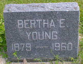 YOUNG, BERTHA E. - Cerro Gordo County, Iowa | BERTHA E. YOUNG