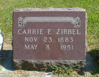 ZIRBEL, CARRIE E. - Cerro Gordo County, Iowa | CARRIE E. ZIRBEL