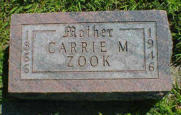 ZOOK, CARRIE M. - Cerro Gordo County, Iowa | CARRIE M. ZOOK