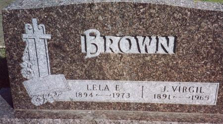 BROWN, J. VIRGIL & LELA E. - Cherokee County, Iowa | J. VIRGIL & LELA E. BROWN