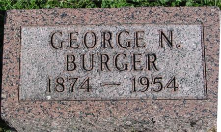 BURGER, GEORGE N. - Cherokee County, Iowa | GEORGE N. BURGER