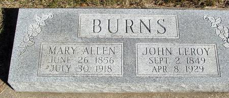 BURNS, JOHN & MARY - Cherokee County, Iowa | JOHN & MARY BURNS