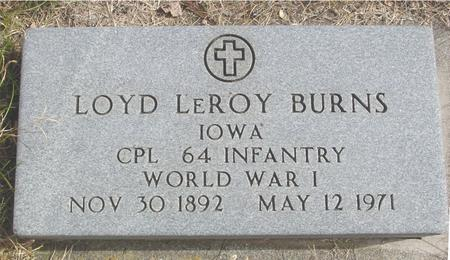 BURNS, LOYD LEROY - Cherokee County, Iowa | LOYD LEROY BURNS
