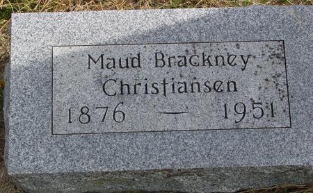 BRACKNEY CHRISTIANSEN, MAUD - Cherokee County, Iowa | MAUD BRACKNEY CHRISTIANSEN