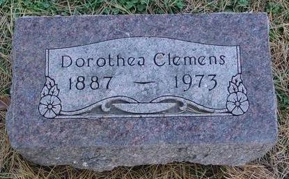 CLEMENS, DOROTHEA - Cherokee County, Iowa | DOROTHEA CLEMENS