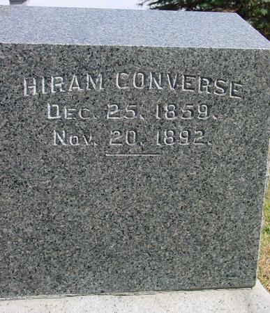 CONVERSE, HIRAM - Cherokee County, Iowa | HIRAM CONVERSE