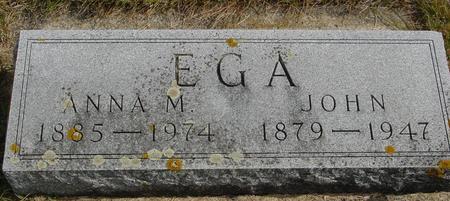 EGA, JOHN & ANNA - Cherokee County, Iowa | JOHN & ANNA EGA