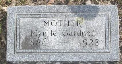 GARDNER, MYRTLE - Cherokee County, Iowa | MYRTLE GARDNER
