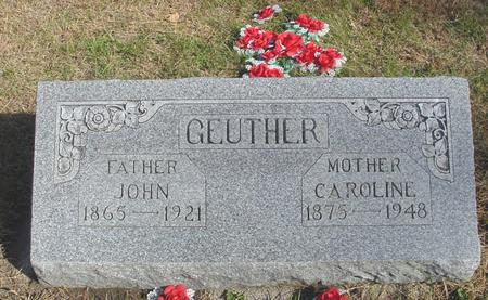 GEUTHER, JOHN & CAROLINE - Cherokee County, Iowa | JOHN & CAROLINE GEUTHER