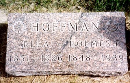 HOFFMAN, HOLMES & ELLA - Cherokee County, Iowa | HOLMES & ELLA HOFFMAN