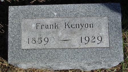KENYON, FRANK - Cherokee County, Iowa | FRANK KENYON