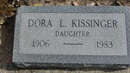 KISSINGER, DORA L. - Cherokee County, Iowa | DORA L. KISSINGER