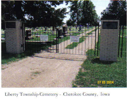 LIBERTY TWP, CEMETERY - Cherokee County, Iowa | CEMETERY LIBERTY TWP
