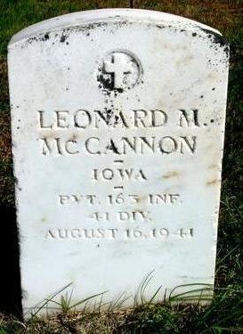 MCCANNON, LEONARD M. - Cherokee County, Iowa | LEONARD M. MCCANNON