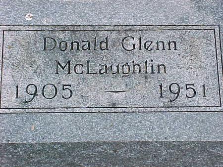 MCLAUGHLIN, DONALD GLENN - Cherokee County, Iowa   DONALD GLENN MCLAUGHLIN
