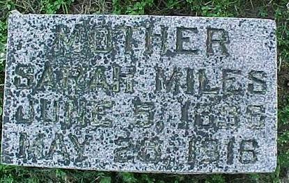 MILES, SARAH - Cherokee County, Iowa | SARAH MILES