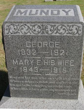 MUNDY, GEORGE & MARY - Cherokee County, Iowa | GEORGE & MARY MUNDY