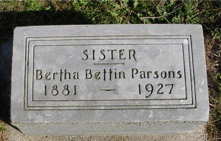BETTIN PARSONS, BERTHA - Cherokee County, Iowa | BERTHA BETTIN PARSONS