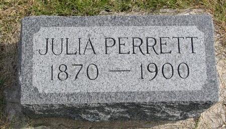 PERRETT, JULIA - Cherokee County, Iowa | JULIA PERRETT