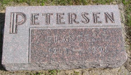 PETERSEN, FRANCES E. - Cherokee County, Iowa | FRANCES E. PETERSEN