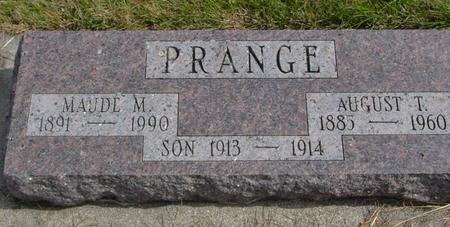 PRANGE, AUGUST T. & MAUDE - Cherokee County, Iowa | AUGUST T. & MAUDE PRANGE