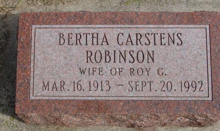 CARSTENS ROBINSON, BERTHA - Cherokee County, Iowa | BERTHA CARSTENS ROBINSON