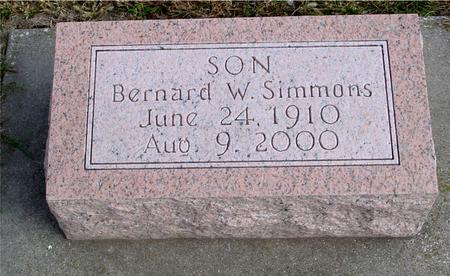 SIMMONS, BERNARD W. - Cherokee County, Iowa | BERNARD W. SIMMONS