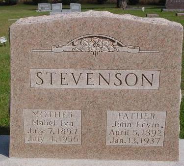 STEVENSON, JOHN & MABEL - Cherokee County, Iowa | JOHN & MABEL STEVENSON