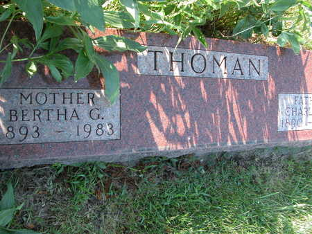 SPINHARNEY THOMAN, BERTHA - Cherokee County, Iowa | BERTHA SPINHARNEY THOMAN