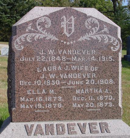 VANDEVER, J. W. & LAURA - Cherokee County, Iowa | J. W. & LAURA VANDEVER
