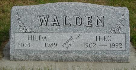 WALDEN, THEO & HILDA - Cherokee County, Iowa | THEO & HILDA WALDEN