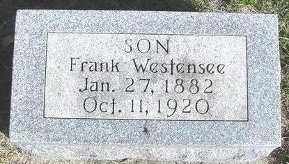 WESTENSEE, FRANK - Cherokee County, Iowa | FRANK WESTENSEE