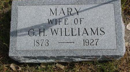 WILLIAMS, MARY - Cherokee County, Iowa | MARY WILLIAMS