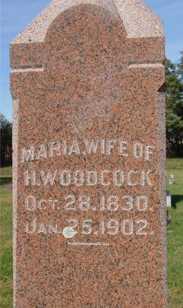 WOODCOCK, MARIA - Cherokee County, Iowa | MARIA WOODCOCK