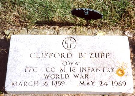 ZUPP, CLIFFORD B. - Cherokee County, Iowa | CLIFFORD B. ZUPP