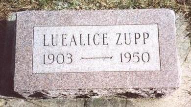 ZUPP, LUE ALICE - Cherokee County, Iowa | LUE ALICE ZUPP