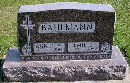 BAHLMANN, AGNES - Chickasaw County, Iowa | AGNES BAHLMANN