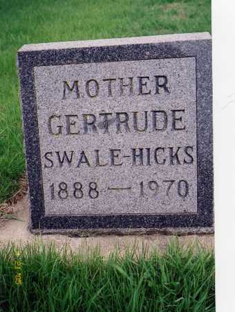 HICKS, GERTRUDE - Chickasaw County, Iowa | GERTRUDE HICKS