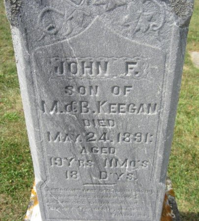 KEEGAN, JOHN F - Chickasaw County, Iowa | JOHN F KEEGAN