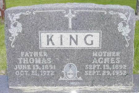 KING, AGNES - Chickasaw County, Iowa | AGNES KING