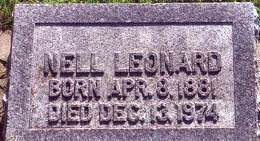 LEONARD, NELLIE - Chickasaw County, Iowa | NELLIE LEONARD