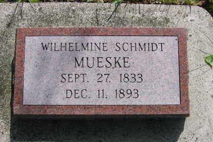 SCHMIDT MUESKE, WILHELMINA ERNESTINE - Chickasaw County, Iowa | WILHELMINA ERNESTINE SCHMIDT MUESKE
