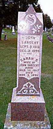 SARGENT, JOHN AND SARAH S. - Chickasaw County, Iowa | JOHN AND SARAH S. SARGENT