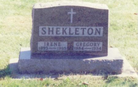 SHEKLETON, EDW. GREGORY - Chickasaw County, Iowa | EDW. GREGORY SHEKLETON