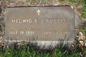 TUTTLE, HEDWIG ELLA JULIANA - Chickasaw County, Iowa | HEDWIG ELLA JULIANA TUTTLE