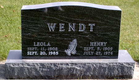 WENDT, LEOLA - Chickasaw County, Iowa | LEOLA WENDT